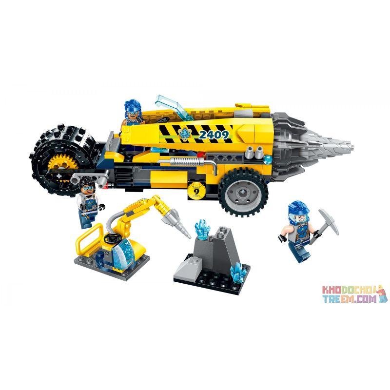 Enlighten 2409 Qman 2409 KEEPPLEY 2409 Xếp hình kiểu Lego KYANITE SQUAD Kyanite Squad Driller Platform Spar Team Earth Splitting Dragon Rồng Tách đất 238 khối
