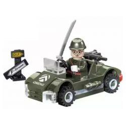 Enlighten 803 Qman 803 Xếp hình kiểu Lego MILITARY ARMY CombatZones Small Military Small Military Vehicle Xe Quân Sự Nhỏ 51 khối