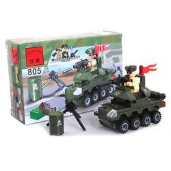 Enlighten 805 Qman 805 Xếp hình kiểu Lego MILITARY ARMY CombatZones Small Tanks Bể Nhỏ 69 khối