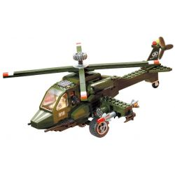 Enlighten 818 Qman 818 Xếp hình kiểu Lego MILITARY ARMY CombatZones Helicopter Máy Bay Trực Thăng 275 khối