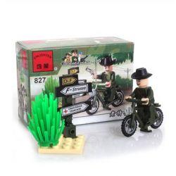 Enlighten 827 Qman 827 Xếp hình kiểu Lego MILITARY ARMY CombatZones Secret Agent Old Agent Điệp Viên Cũ 20 khối