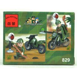 Enlighten 829 Qman 829 Xếp hình kiểu Lego MILITARY ARMY CombatZones Paravane Rider Máy Dò Mìn 19 khối