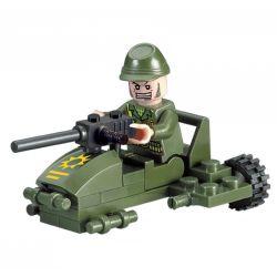 Enlighten 830 Qman 830 Xếp hình kiểu Lego MILITARY ARMY CombatZones Small Chariot Xe Ngựa 28 khối