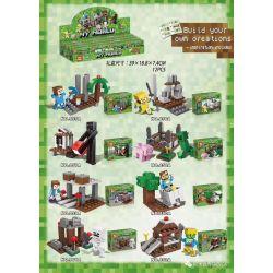 YILE 855 855A 856A 857A 858A 859A 860A 861A 862A Xếp hình kiểu Lego MINECRAFT MY WORLD House Small Scene 8 8 Cảnh Nhỏ Nhỏ gồm 8 hộp nhỏ