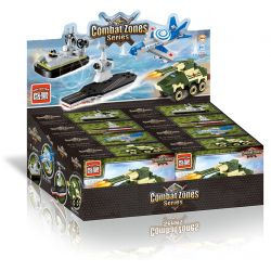 Enlighten 1229 1230 1231 1232 Qman 1229 1230 1231 1232 Xếp hình kiểu Lego MILITARY ARMY Mini Military 4 Alpha Armored Vehicles, E-3 Early Warning Machine, Nuclear Driving Aircraft Carrier, Air Cushion
