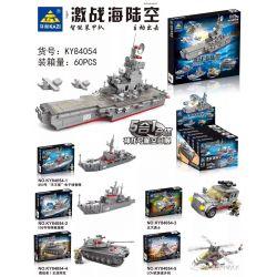 Kazi KY84054 84054 KY84054-1 84054-1 KY84054-2 84054-2 KY84054-3 84054-3 KY84054-4 84054-4 KY84054-5 84054-5 Xếp hình kiểu Lego MILITARY ARMY Guild Wars Shenlong Aircraft Carrier 5 In 1 Fit Tổ Hợp Tàu