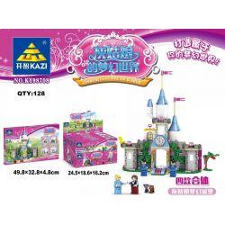 Kazi KY98708 98708 KY98708-1 98708-1 KY98708-2 98708-2 KY98708-3 98708-3 KY98708-4 98708-4 Xếp hình kiểu Lego DISNEY PRINCESS Cinderella's Dream World Cinderella Dream Castle Four Composition Cinderel