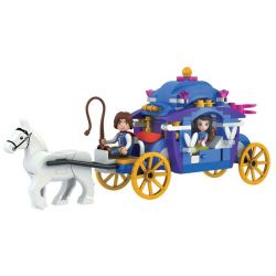Winner 5001 Xếp hình kiểu Lego SNOW WHITE PRINCESS Wei Le Snow Princess Princess Carriage Xe Công Chúa 170 khối