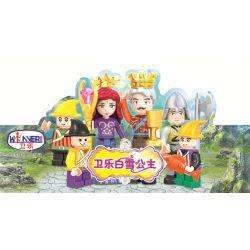 WINNER JEMLOU 5008 5008A 5008B 5008C 5008D 5008E 5008F Xếp hình kiểu Lego SNOW WHITE PRINCESS Wei Le Snow Princess Human Small Scene 6 Minifigures 6 Mô Hình gồm 6 hộp nhỏ 189 khối