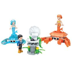 Winner 5015 Xếp hình kiểu Lego MERMAID Wei Mei Fish Black Pearl Ngọc Trai đen 130 khối