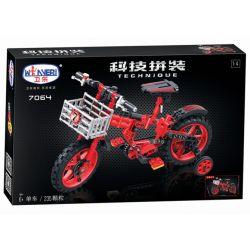 Winner 7064 Xếp hình kiểu Lego TECHNIC The Red Bicycle Child Bike 1 4 Xe đạp Trẻ Em 1 4 235 khối