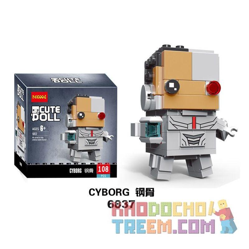 Decool 6837 Jisi 6837 LEPIN 43030 Xếp hình kiểu Lego BRICKHEADZ Cyborg Fangtai Steel Cyborg 108 khối