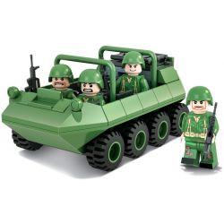 Winner 8002 Xếp hình kiểu Lego TANK BATTLE TankBattle Land War Eight Round All-tunnel Xe địa Hình Tám Bánh 139 khối