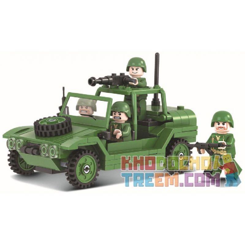 Winner 8003 Xếp hình kiểu Lego TANK BATTLE TankBattle Land War Paratrooper Xe Tấn Công Của Lính Dù 168 khối