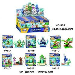 WINNER JEMLOU 5051 5051A 5051B 5051C 5051D 5051E 5051F Xếp hình kiểu Lego MONKIE KID Fantasy Westward Journey Wei Music Magic Westward Journey Human Small Scene 6 Minifigures 6 Mô Hình gồm 6 hộp nhỏ 1