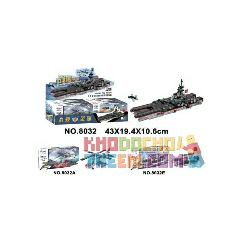 WINNER JEMLOU 8032 8032A 8032B 8032C 8032D 8032E 8032F 8032G 8032H Xếp hình kiểu Lego MILITARY ARMY Warship Glory Fengshen Branch Dual-core Power Carrier H003 Full 8 Tàu Sân Bay Lõi Kép Aeolus Lõi Kép