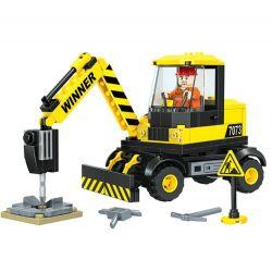 Winner 7073 Xếp hình kiểu Lego CITY Little Engineers Small Engineer Pavement Crusher Máy Nghiền đường 154 khối