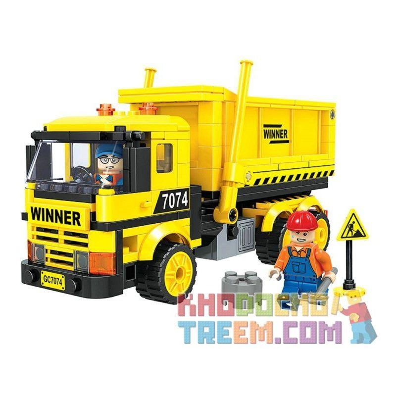 Winner 7074 Xếp hình kiểu Lego CITY Little Engineers Little Engineer Dump Truck Xe Tải Tự đổ 269 khối