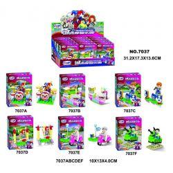WINNER JEMLOU 7037 7037A 7037B 7037C 7037D 7037E 7037F Xếp hình kiểu Lego City Modern Paradise Human Small Scene 6 Minifigures 6 Mô Hình gồm 6 hộp nhỏ