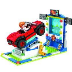 Winner 7040 Xếp hình kiểu Lego City Modern Paradise Dynamic Racing Đua Xe Năng động 162 khối
