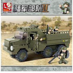 SLUBAN M38-B0301 B0301 0301 M38B0301 38-B0301 Xếp hình kiểu Lego LAND FORCES 2 Army Force II Army Quân Nhân Chuyên Chở 230 khối