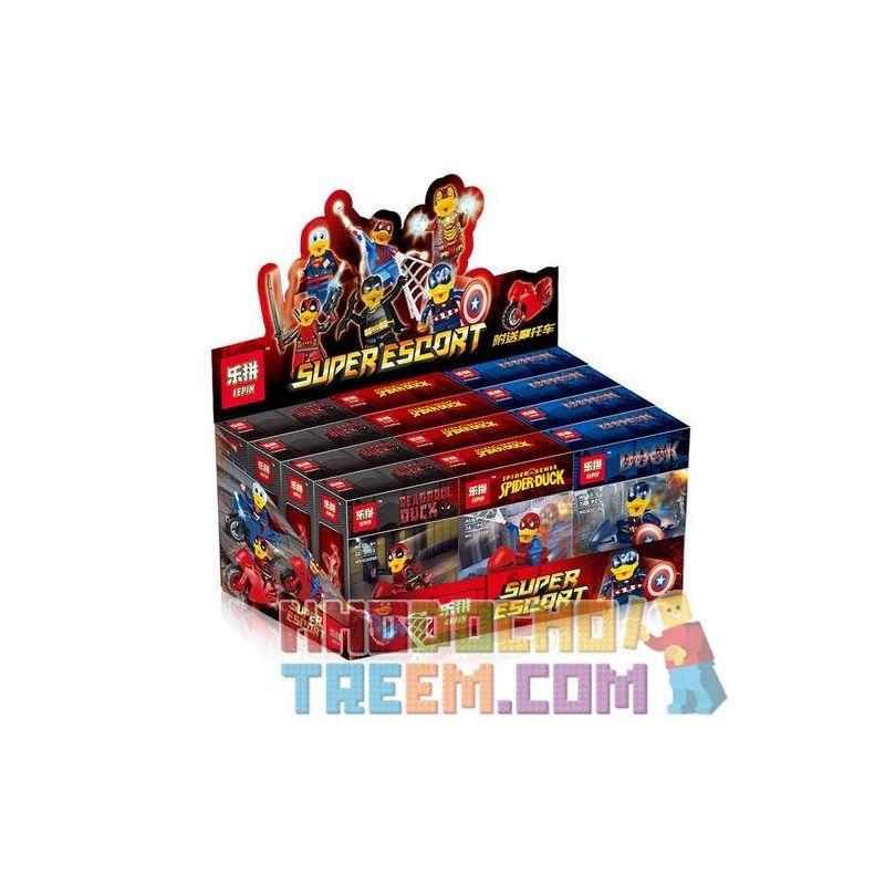 LEPIN 03059 Xếp hình kiểu Lego SUPER HEROES Super Escort Dead Waiter Hua Waide Strange Ducks Can Daren Duck People 6 Deadpool Howard Vịt Kỳ Lạ Vịt Quay Minifigure 6