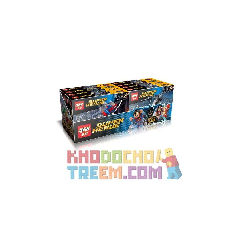 LEPIN 07023 Xếp hình kiểu Lego SUPER HEROES Superhero 4 In 1 Fit Phiên Bản Kết Hợp Superhero 4 Trong 1