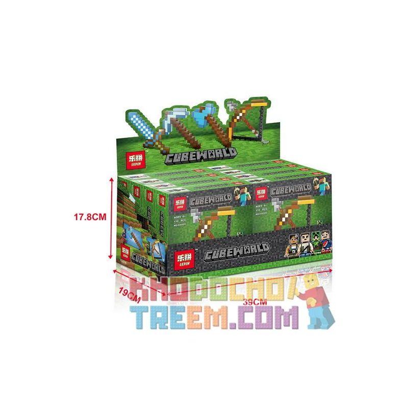 LEPIN 03050 03050A 03050B 03050C 03050D Xếp hình kiểu Lego MINECRAFT CubeWorld My World Peripheral Toy Weapon Diamond Sword Arrow Vũ Khí đồ Chơi Ngoại Vi Kiếm Kim Cương Và Mũi Tên gồm 4 hộp nhỏ