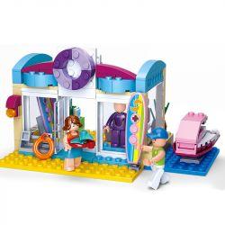 SLUBAN M38-B0603 B0603 0603 M38B0603 38-B0603 Xếp hình kiểu Lego GIRL'S DREAM Beach Shop Dolphin Bay Pink Dream Swimwood Store Cửa Hàng đồ Bơi 180 khối