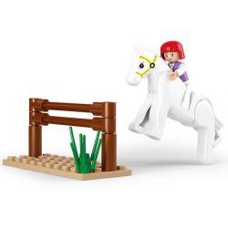 SLUBAN M38-B0517 B0517 0517 M38B0517 38-B0517 Xếp hình kiểu Lego GIRL'S DREAM Dolphin Bay Pink Dream Equestrian Exercise Tập Cưỡi Ngựa 20 khối