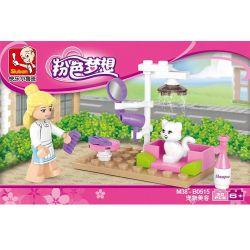 SLUBAN M38-B0515 B0515 0515 M38B0515 38-B0515 Xếp hình kiểu Lego GIRL'S DREAM Dolphin Bay Pink Dream Pet Grooming Chải Lông Cho Thú Cưng 30 khối