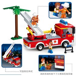 SLUBAN M38-0625 0625 M380625 38-0625 Xếp hình kiểu Lego FIRE RESCURE Aerial Ladder Fire Truck Fire Hero Continental Fire Truck Xe Cứu Hỏa Thang 269 khối