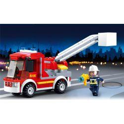 SLUBAN M38-0632 0632 M380632 38-0632 Xếp hình kiểu Lego FIRE RESCURE Samll Fire Truck Fire Hero Small Debut Fire Truck Xe Cứu Hỏa Nhỏ đi Lên 136 khối