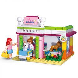 SLUBAN M38-B0602 B0602 0602 M38B0602 38-B0602 Xếp hình kiểu Lego GIRL'S DREAM Pet Shop Dolphin Bay Pink Dream Pet Grooming Shop Cửa Hàng Chải Lông Thú Cưng 195 khối
