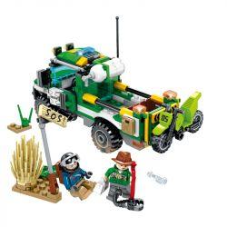 SEMBO SD9552 9552 Xếp hình kiểu Lego RESCUE TEAM Doomsday Rescue Transfer Off-road Motorcycle Chuyển Motocross 212 khối