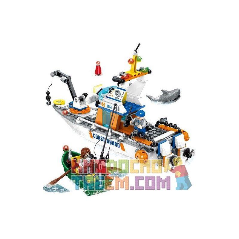 SEMBO SD9551 9551 Xếp hình kiểu Lego RESCUE TEAM Doomsday Rescue Rescue Sea Fishing Giải Cứu Người Câu Cá 248 khối