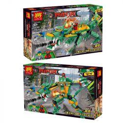 LELE 31084 Xếp hình kiểu THE LEGO NINJAGO MOVIE The LELE Ninja Movie Phantom Ninja Magic Cang Dragon Dorm Phantom Ninja Demon Shadow Dragon Transformation Mech 248 khối