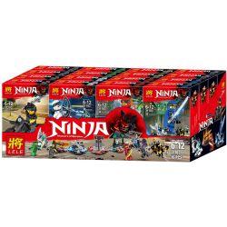 LELE 31103 Xếp hình kiểu Lego SUPER HEROES Ninja Masters Of Spinjitz Ninja 8 In 1 Ancient Artifacts 8 Ninja 8-trong-1 Cổ Vật Cổ đại Minifigure 8 Loại