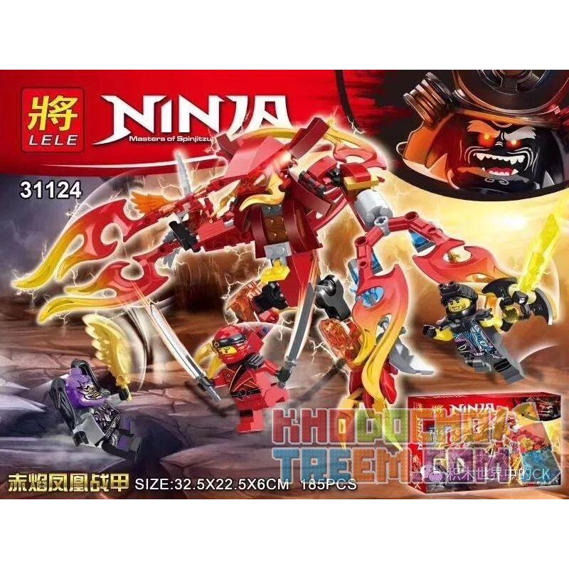LELE 31124 Xếp hình kiểu THE LEGO NINJAGO MOVIE Ninja Masters Of Spinjitz Raifei Phoenix Raibei Phoenix. 185 khối
