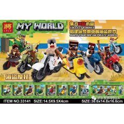 LELE 33141 33141-1 33141-2 33141-3 33141-4 33141-5 33141-6 33141-7 33141-8 Xếp hình kiểu Lego MINECRAFT MY WORLD Pirate Motorcycle People 8 gồm 8 hộp nhỏ