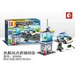 SHENG YUAN SY SD9506 9506 Xếp hình kiểu Lego FUTURE POLICE Dragon Anger Catch The Robbers On Duty Điểm Nhiệm Vụ để Bắt Cướp 134 khối