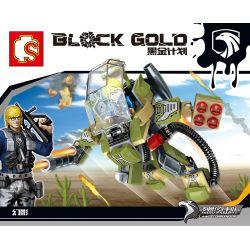 SEMBO 11613 Xếp hình kiểu Lego BLACK GOLD Black Plan Phantom Ma 104 khối