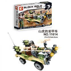 SEMBO 11614 Xếp hình kiểu Lego BLACK GOLD Black Plan Mountain Tiger Armored Car Xe Bọc Thép Của Shanhu 88 khối