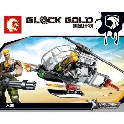 SEMBO 11615 Xếp hình kiểu Lego Black Gold Helicopter Máy Bay Trực Thăng 84 khối