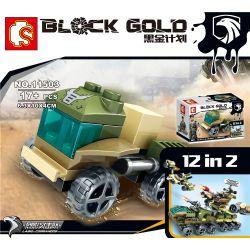 SEMBO 11501 11502 11503 11504 11505 11506 11507 11508 11509 11510 11511 11512 Xếp hình kiểu Lego BLACK GOLD Black Plan Drone Combination 12 In 2 Sự Kết Hợp Của UAV 12 Trong 2 Dự án Vàng đen Sự Kết Hợp