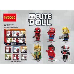 Decool 6809 6810 6811 6812 6813 6814 Jisi 6809 6810 6811 6812 6813 6814 Xếp hình kiểu Lego SUPER HEROES Cute Doll 6 CUTE DOLL 6 Mẫu gồm 6 hộp nhỏ
