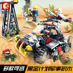 SEMBO 11660 Xếp hình kiểu Lego Black Gold Red Devils Advance Force 165 khối