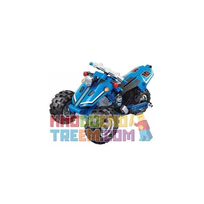 Winner 7082 Xếp hình kiểu Lego TECHNIC Inverted Tricycle Xe Ba Bánh Ngược 172 khối có động cơ kéo thả