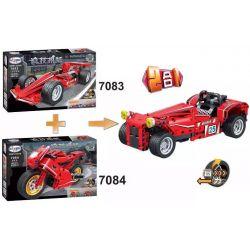 Winner 7083 Xếp hình kiểu Lego TECHNIC Formula Racing Back Bus Xe đua Công Thức 180 khối có động cơ kéo thả