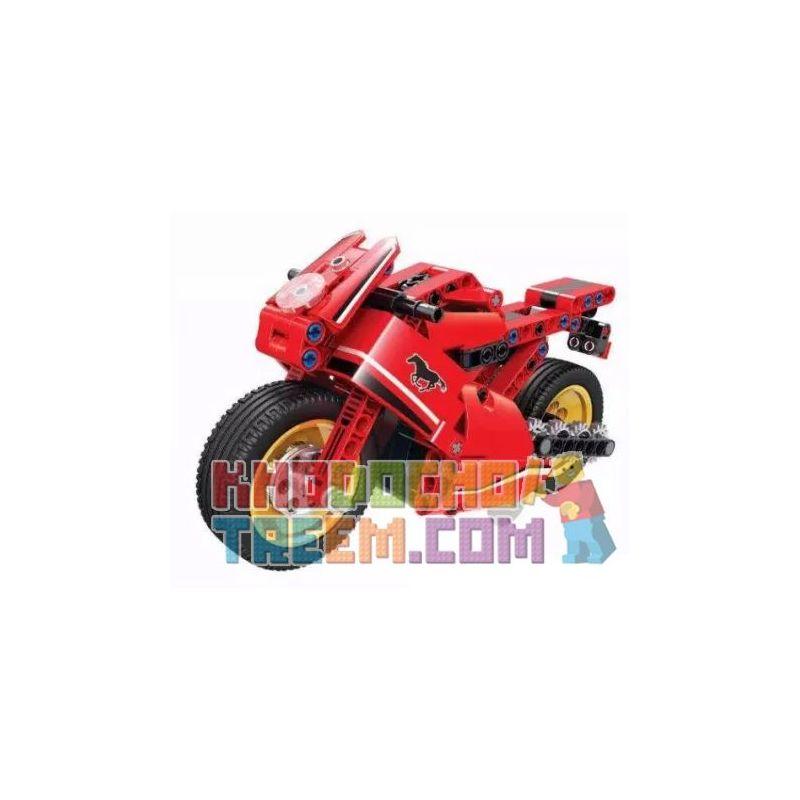 Winner 7084 Xếp hình kiểu Lego TECHNIC Motorcycle Backward Xe Máy Lùi 188 khối có động cơ kéo thả